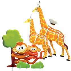 3D Puzzle Affe & Giraffe