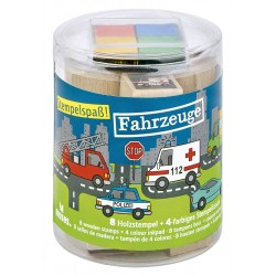 Kleine Stempelbox - Stempelspass Fahrzeuge