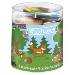 Kleine Stempelbox - Stempelspass Waldtiere