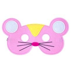 Filz Maske Happy - Maus pink
