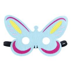 Maske Schmetterling aus Filz in blau