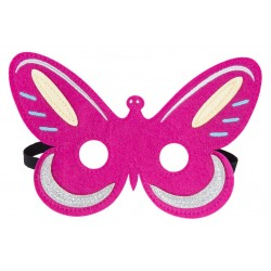 Filz Maske Happy - Schmetterling pink
