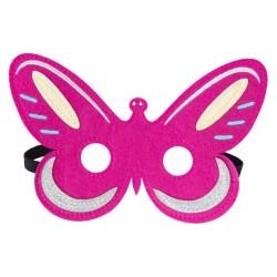 Maske Schmetterling aus Filz in pink