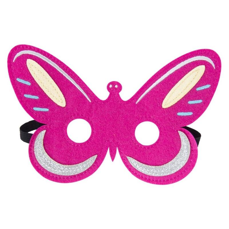 Filz Maske Schmetterling rosa