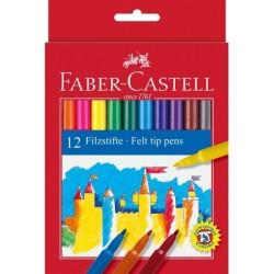 12 Filzstifte von Faber-Castell