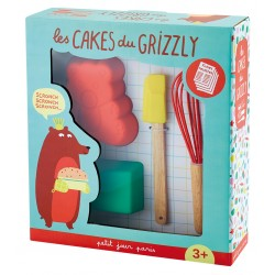 Backset Les Cakes du Grizzly - 5-teiliges Cake Set