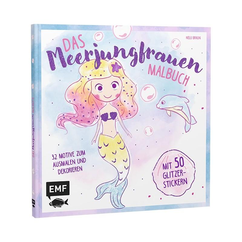 malvorlage glitzermeerjungfrau mit delfin | coloring and