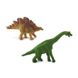 Mini Dinosaurier Figur - Brachiosaurus & Stegosaurus - Glücksbringer