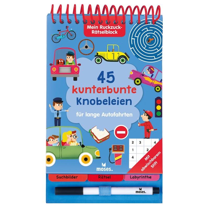 Mein Ruckzuck-Rätselblock - 45 kunterbunte Knobeleien für lange Autofahrten