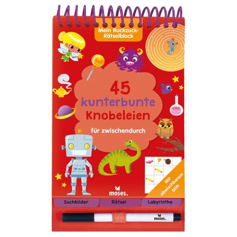 Mein Ruckzuck-Rätselblock - 45 kunterbunte Knobeleien für zwischendurch