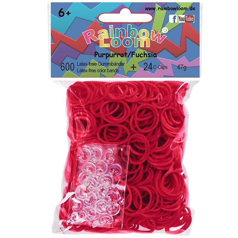 Rainbow Loom® Gummibänder purpurrot / fuchsia opaque