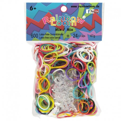 Rainbow Loom® Gummibänder mix opaque