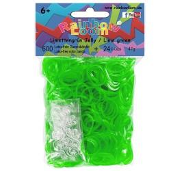 Rainbow Loom® Gummibänder limettengrün jelly