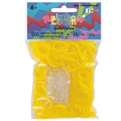 Rainbow Loom® Gummibänder gelb opaque