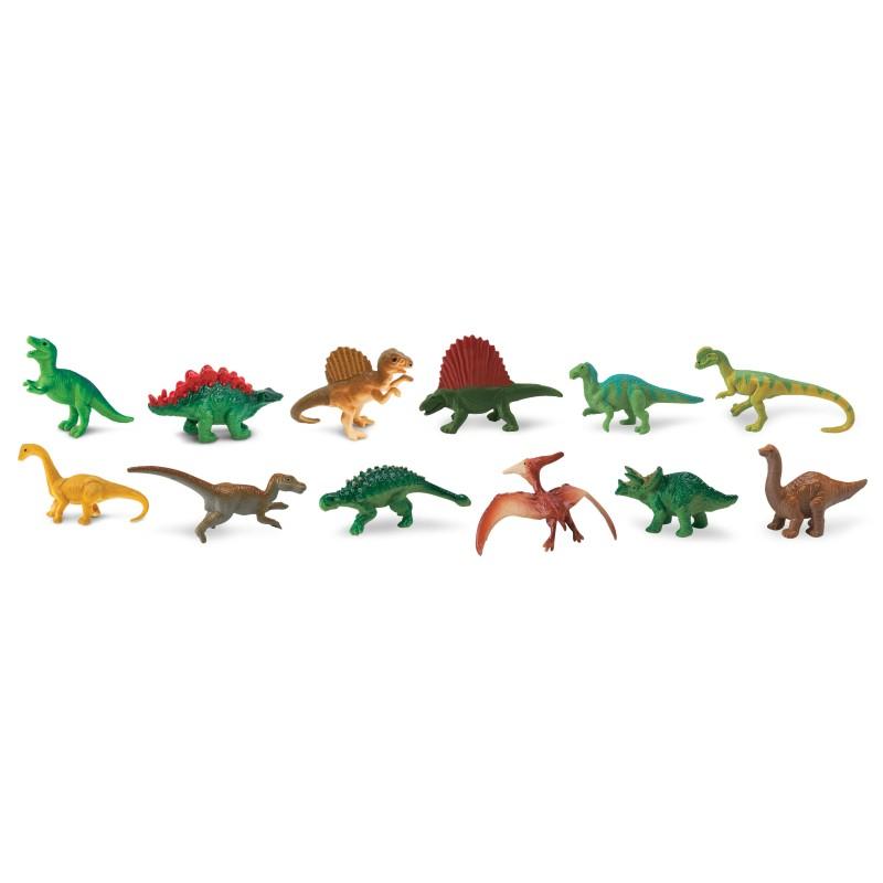 Dinosaurier - Set mit 12 kleinen handbemalten Figuren
