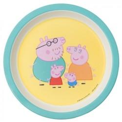 Melamin Teller Peppa Pig - Familie Wutz