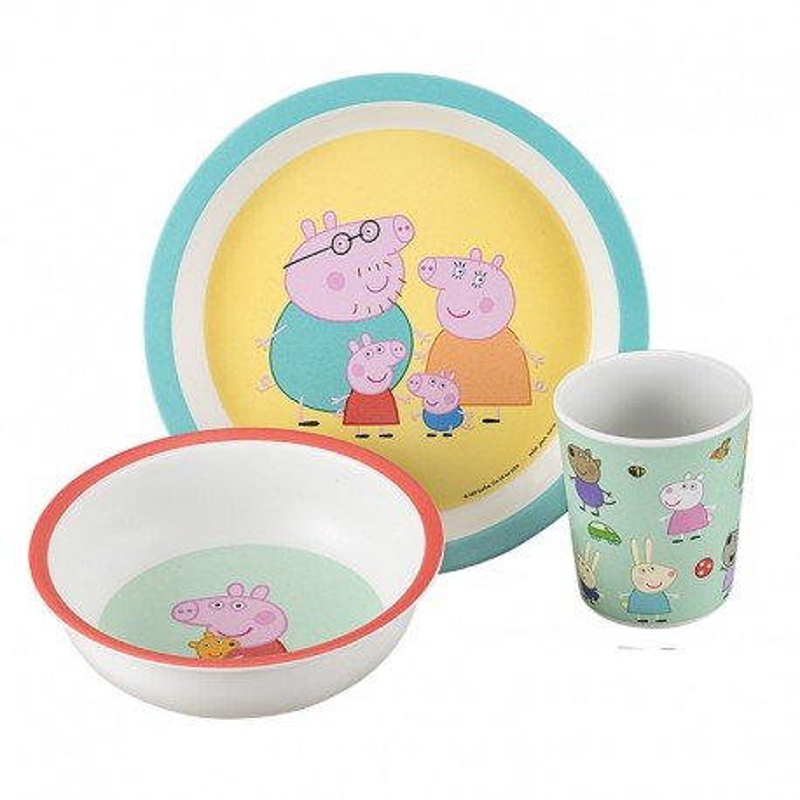 Melamin Geschirrset Peppa Pig - Peppa Wutz