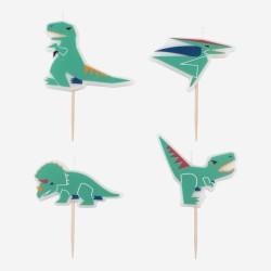 My Little Day - 4 Kerzen Dinosaurier