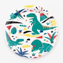 My Little Day - 8 Pappteller Dinosaurier