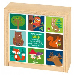 Fröhliches kunterbuntes Mini-Memo aus Holz