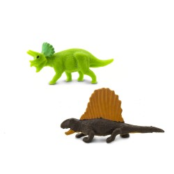 Mini Dinosaurier Figur - Triceratops - Dimetrodons - Glücksbringer