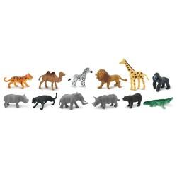 Dschungeltiere - Wilde Tiere - Set mit 12 kleinen handbemalten Figuren