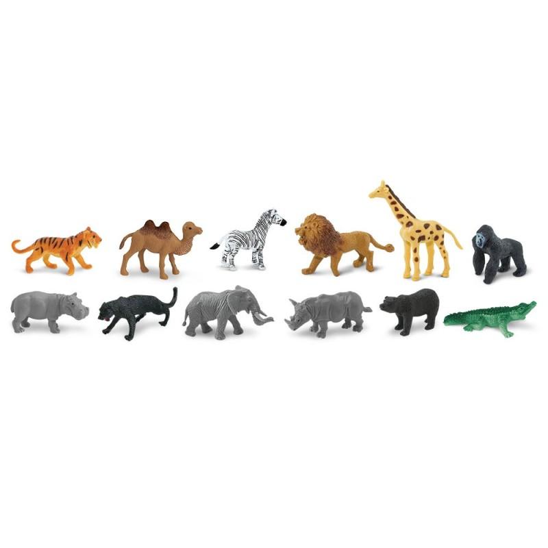 Dschungeltiere - Set mit 12 kleinen handbemalten Figuren