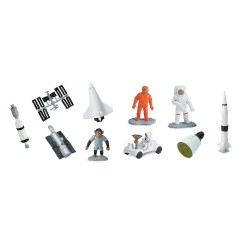 Astronaut, Weltraum & Raumfahrt - Set mit 12 kleinen handbemalten Figuren