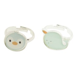 Kinder Ring Set Sealife - Pinguin und Narwal