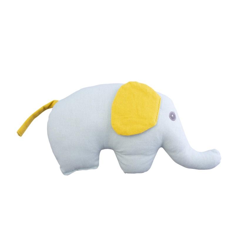 Elefant zum Kuscheln mit Rassel