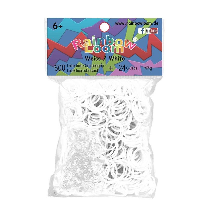 Rainbow Loom® Gummibänder weiss