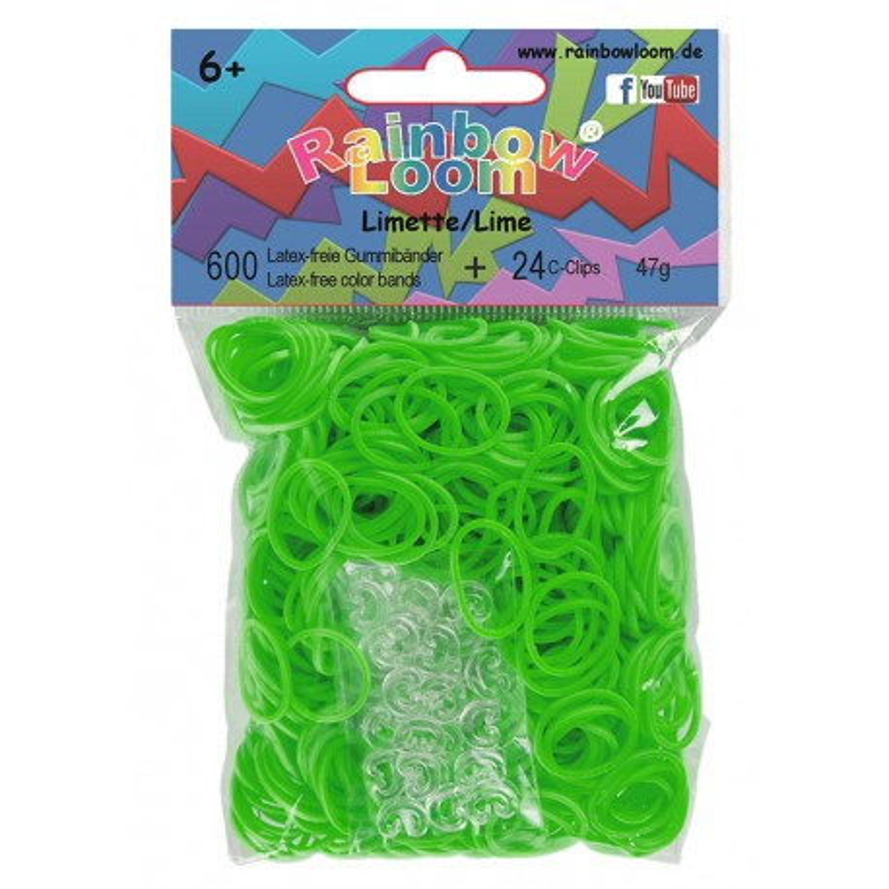 Rainbow Loom® Gummibänder limettengrün opaque