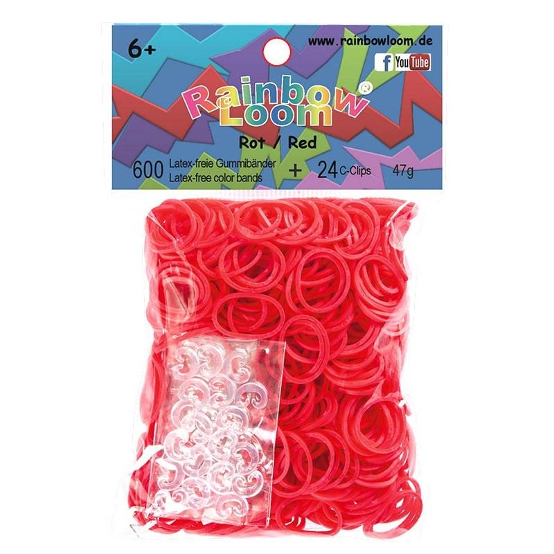 Rainbow Loom® Gummibänder rot opaque