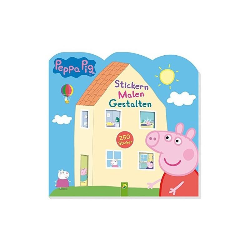 Peppa Pig Stickern - Malen - Gestalten mit 250 Stickern