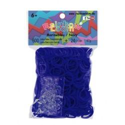 Rainbow Loom® Gummibänder marineblau opaque