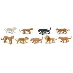 Raubkatzen - Set mit 9 handbemalten Figuren