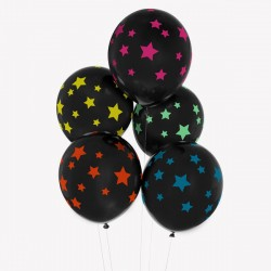 My Little Day - 5 Ballons Sterne - Stars