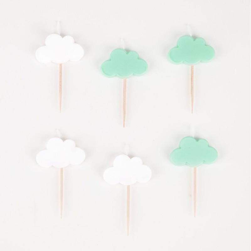 My Little Day - 6 Kerzen Wolken