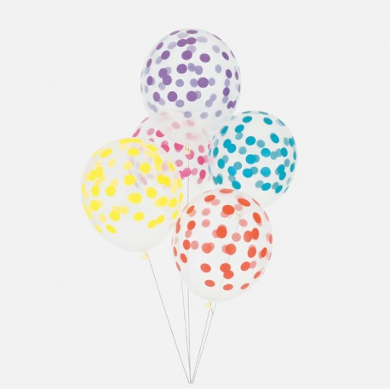 My Little Day - 5 Konfetti Balloons Multicolour