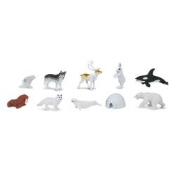 Arktis - Set mit 12 kleinen handbemalten Figuren