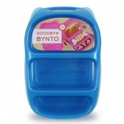Goodbyn Bynto Lunch- und Znünibox mit 3 Fächern, blau