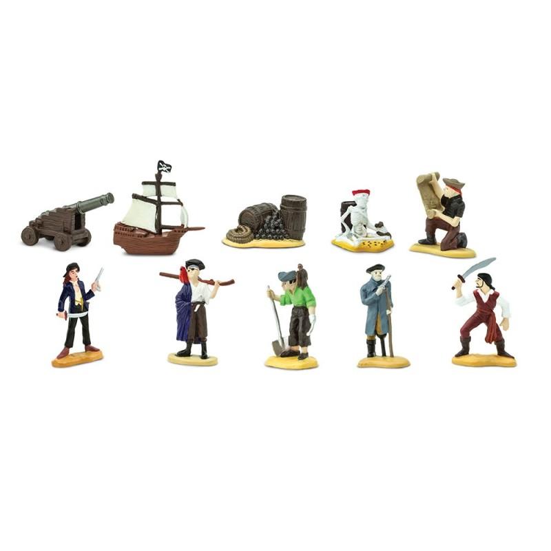 Piraten - Set mit 9 handbemalten Figuren