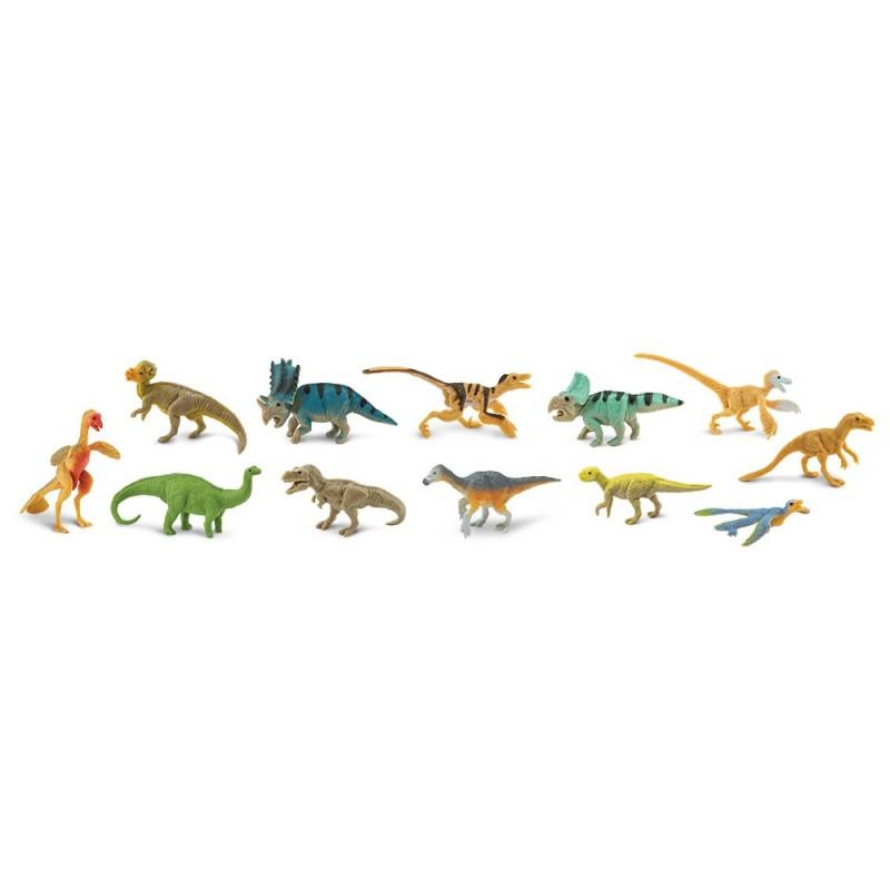 Gefiederte Dinosaurier - Set mit 9 handbemalten Figuren