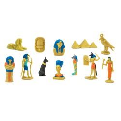Ägypten - Set mit 12 handbemalten Figuren