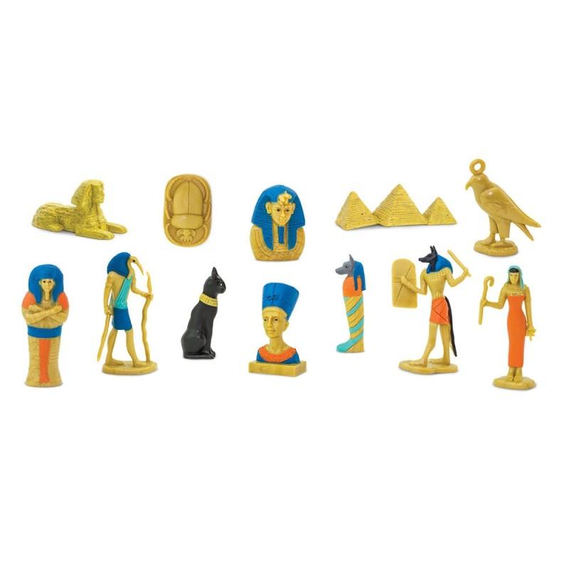 Ägypten - Set mit 9 handbemalten Figuren