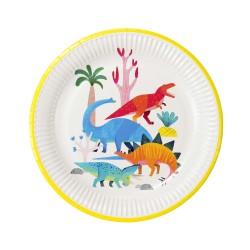 Pappteller Dinosaurier - Party Dinosaurier, 8 Stück