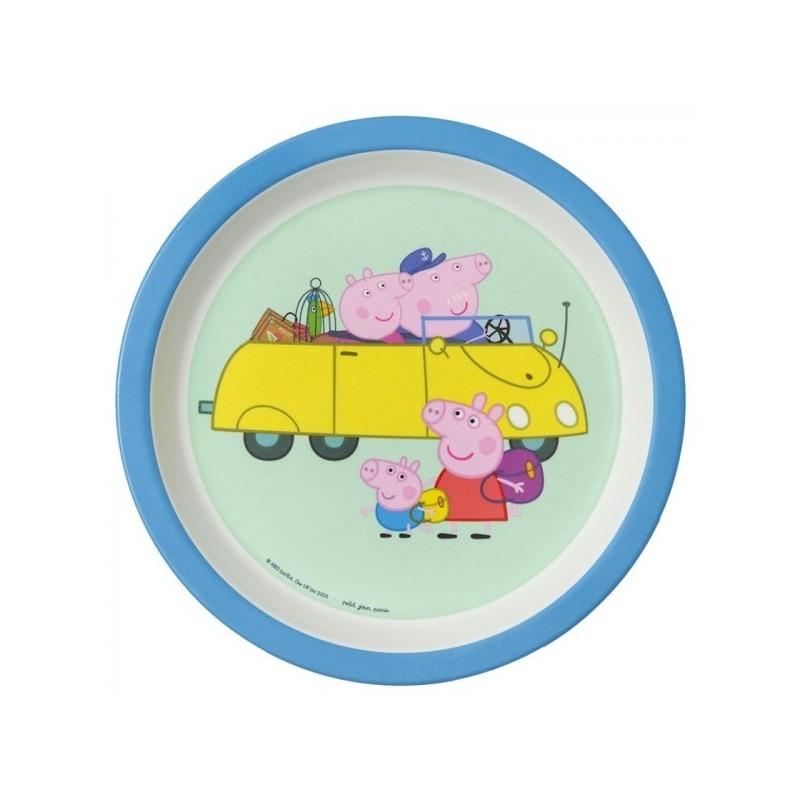 Melamin Teller Peppa Pig - Unterwegs mit Oma und Opa Wutz