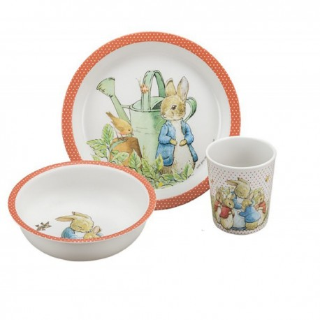Melamin Geschirrset Peter Rabbit - Peter Hase