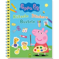 Peppa Pig Rätseln Stickern Basteln