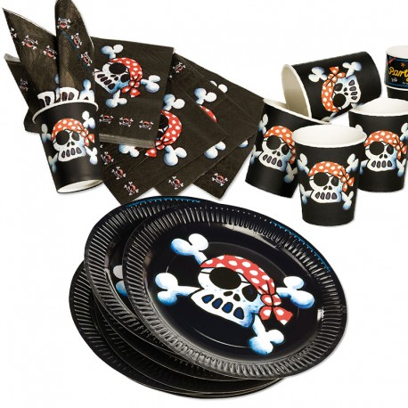 Kinderpartyset Piratenflagge Jolly Roger